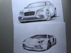 Unique valuable designs by Lamborghini and Bentley - - Catawiki Bentley 2017, Unique Drawings, Lamborghini, Design, Design Comics