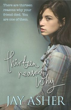 Thirteen Reasons Why by Jay Asher. Found in face-out fiction under A. Clay Jensen returns home to find a strange package with his name on it. Inside he discovers several cassette tapes recorded by Hannah Baker – his classmate and first love – who committed suicide two weeks earlier. Hannah's voice explains there are thirteen reasons why she killed herself. Clay is one of them. If he listens, he'll find out why.