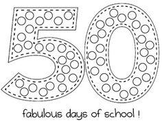 50th Day of School Activities FREEBIE