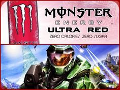 Ultra Monster/Halo Set-Up #1 [Red]: Ultra Red Monster Energy Drink & Halo: Combat Evolved. #collage #red #gamingfuel #xbox #halo #halocombatevolved #spartan #masterchief #john117 #monsterenergy #ultrared