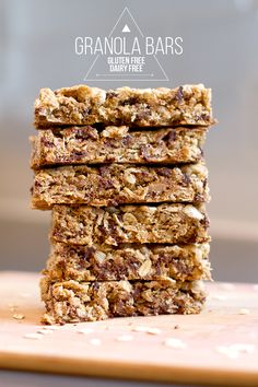 gluten free dairy free granola bar recipe. So, so good.