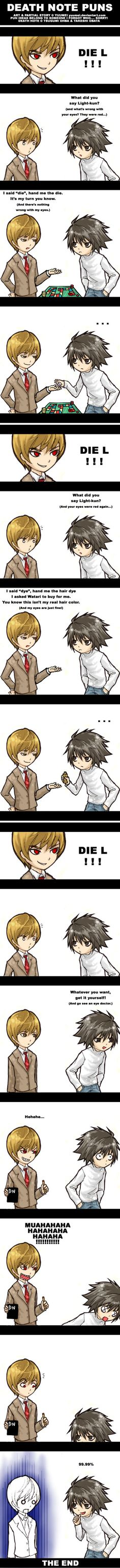 DEATH NOTE PUNS  by `yuumei. ...Yes
