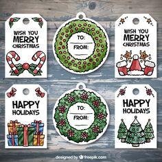 Seleção de emblemas decorativos para o Natal Vetor Premium