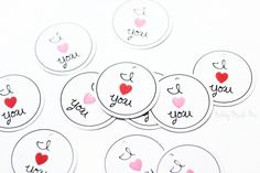Free Printable 'I ♥ You' Tags! #valentines #day #printables