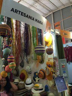 Artesanía María Stella Cabrera. #Nariño, #Colombia, en 3ra Expo de Artesanía de Valdivia, Chile. Calidad excepcional.
