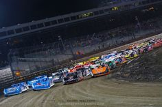 Here's a photo I took from the pacecar at Knoxville Raceway http://www.racingnewsnetwork.com/2013/10/04/lucas-oil-late-model-nationals-photos/ #knoxvilleraceway #dirtracing #dirttrack #dirttracks #dirttrackracing #racing #motorsport #autoracing