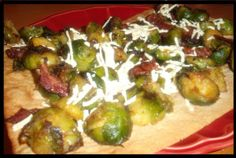 Brussels Sprout and Bacon Pizza