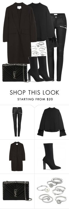 """""""Untitled #2896"""" by theeuropeancloset ❤ liked on Polyvore featuring Steve J & Yoni P, Alexander Wang, Yves Saint Laurent and Candie's"""