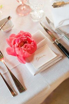 11 Gorgeous Ways to Incorporate Peonies Into Any Wedding Budget: Peony Place Settings
