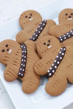 How to Make Star Wars Gingerbread Wookiee Cookies