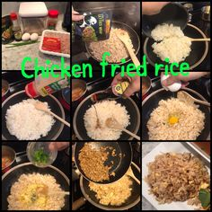 Easy chicken fried rice Chicken Lettuce Wraps, Fried Chicken, Fried Rice, Allrecipes, Love Food, Fries, Buffalo Chicken, Nasi Goreng, Baked Fried Chicken