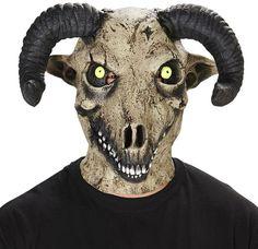 Adult Ram Horned Costume Mask, Kostüme - Costumes, Kostüm, Costume, Fasching, Fasnacht, Karneval, Carneval, Mask, Masken, funny staff for events