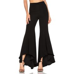 Lovers + Friends x REVOLVE Riley Pants ($150) ❤ liked on Polyvore featuring pants, high waisted flared trousers, high waisted flare pants, rock pants, flare pants and high-waist trousers