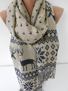 Hey, I found this really awesome Etsy listing at https://www.etsy.com/listing/203980564/nordic-scarf-oversize-scarf-men-women