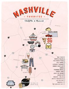 Nashville Map, Weekend In Nashville, Nashville Vacation, Tennessee Vacation, Nashville Tennessee, Nashville Music Festival, Bluebird Cafe Nashville, Nashville Coffee Shops, Nashville Things To Do