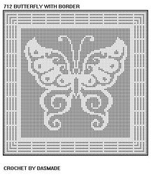 Free Filet Crochet Graph Patterns | FILET CROCHET BUTTERFLY AFGHAN - Crochet — Learn How to Crochet
