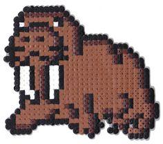 Walrus hama perler beads