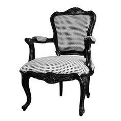 Legion Furniture W1477A-02-BW Antique Black Accent Chair