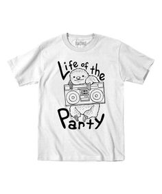 Look what I found on #zulily! White 'Life of the Party' Sloth Tee - Toddler & Kids #zulilyfinds
