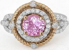 19283c193b137 96 Best Pink Sapphire Rings - MyJewelrySource images in 2018   Hot ...
