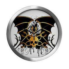 #Skull, Wall #Clock