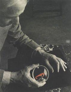 Josef Breitenbach - Max Ernst and the Seahorse, New York, 1942