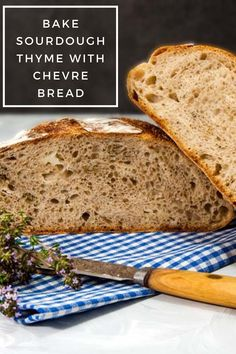 A sourdough bread filled with Chevre cheese, thyme, and a hint of rye. Serve this Sourdough chevre and thyme bread with tasty food. Chevre Cheese, Tasty, Yummy Food, Sourdough Bread, Bread Recipes, Banana Bread, Baking, Desserts, Nerd