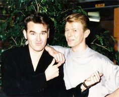 """Morrissey and David Bowie. """"NME, 1989"""""""