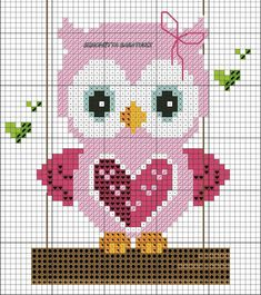 Gufetti For Outdoor Cross Point Diagram - Diy Crafts - maallure Cross Stitch Owl, Cat Cross Stitches, Butterfly Cross Stitch, Cross Stitch Bookmarks, Cross Stitch Cards, Cross Stitch Animals, Cross Stitch Designs, Cross Stitching, Cross Stitch Embroidery