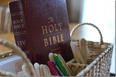 Bible basket/prayer sticks