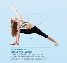 Tara-Stiles-yoga-workout-for-strength-extended-side-angle-variation-pose