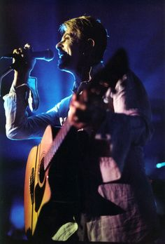 David Bowie performing at The Riverside in Newcastle on August 3, 1997
