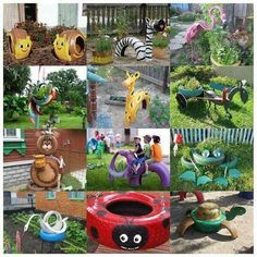 >There are many creative and interesting ways to repurpose old tires into some useful items, such as furniture, a mini garden pond and a plant pot. You can even make some nice garden decors! Here we have gathered more than 40 creative… Garden Crafts, Garden Projects, Diy Projects, Yard Art, Tired Animals, Tire Garden, Garden Pond, Corner Garden, Garden Oasis