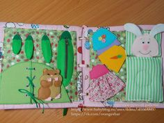Dressing the bunny and zips on peapods. That chipmunk is so cute. Развивающая игрушка (книжка) для детей