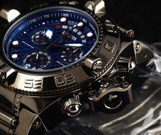 Invicta 17377 Subaqua Noma IV Hi Polish Gunmetal Swiss Made SS 500M Diver Watch #Invicta #LuxurySportStyles