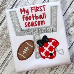 Baby girl first football season