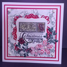 Card made during our workshop with Julia Watts using Sue Wilson Christmas dies