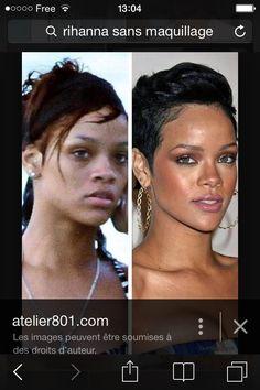 Avant apr s maquillage 20 transformations spectaculaires de chinoises - Rihanna avant apres ...
