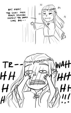 Thranduil and his wife + poor little Legolas