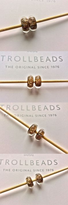 Charms and Charm Bracelets 140944: Authentic Trollbeads Pair Set Of 2 Magical Lamp Sparkle Kit Beads -> BUY IT NOW ONLY: $49 on eBay!