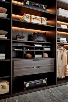 The best of luxury closet design in a selection curated by Boca do Lobo to inspire interior designers looking to finish their projects. Discover unique walk-in closet setups by the best furniture makers out there. Walk In Closet Design, Bedroom Closet Design, Wardrobe Design, Closet Designs, Walk In Wardrobe, Bedroom Wardrobe, Wardrobe Closet, Master Closet, Glass Wardrobe