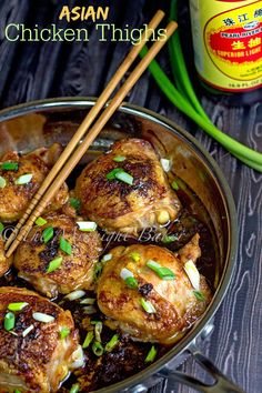 Asian Chicken Thighs | bakeatmidnite.com | #chicken #asian