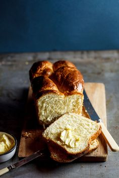 Brioche Loaf ~ an overnight bread dough; 4 eggs. The fluffy texture is quite alluring mmm