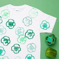 DIY a shamrock shirt for St Patrick's Day.