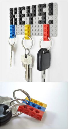 17 totally cool DIY Lego crafts that are fun and use Lego Projects, Diy Projects To Try, Crafts To Make, Crafts For Kids, Diy Crafts, Diy Lego, Lego Craft, Lego Minecraft, Cool Diy