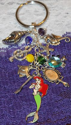 Shasha! Ariel The Little Mermaid Inspired Keychain by musicissanity, $5.99