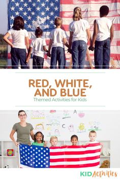 A collection of fun patriotic themed activity ideas for kids. Use these fun games and craft ideas to help teach the little ones about patriotism. Holiday Activities For Kids, Games For Toddlers, Kid Activities, Crafts For Kids, Activity Ideas, Craft Ideas, Usa Party, Quick And Easy Crafts, Patriotic Crafts