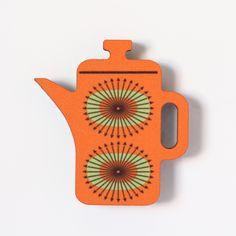 Coffee Pot- Fridge Magnet – Beyond the Fridge (Frome) Ltd #retro #design #coffeepot #madeintheuk #fridgemagnet