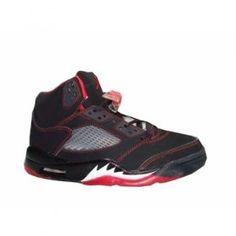 Nike Air Jordans 5 Retro Black Silver Red $84.00 http://www.jordanpatros