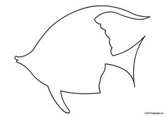 fish outline template - Google Search